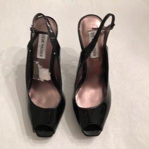 Steve Madden black open toe heels